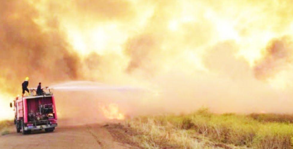 انتشار أمني كثيف لمنع تكرار حرائق الحنطة