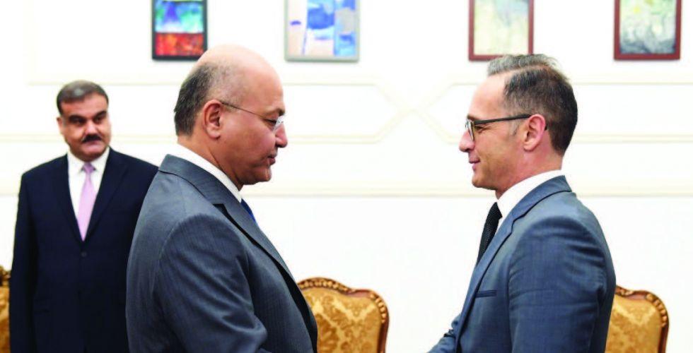صالح يؤكد أهمية تنسيق المواقف مع الدول الأوروبية