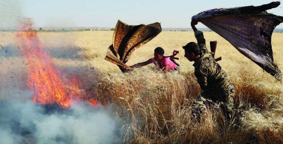 حرائق الحقول الغامضة في سوريا والعراق