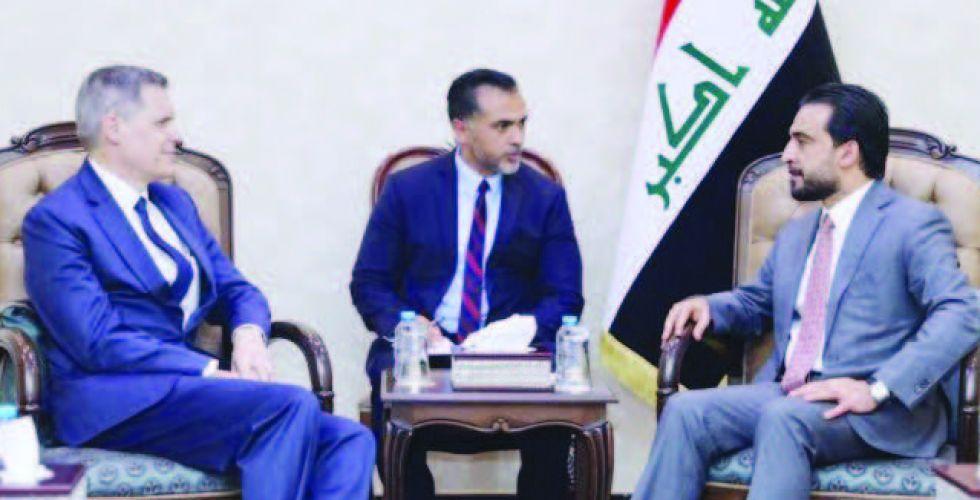 الحلبوسي يبحث آفاق تطوير العلاقات بين العراق وأميركا