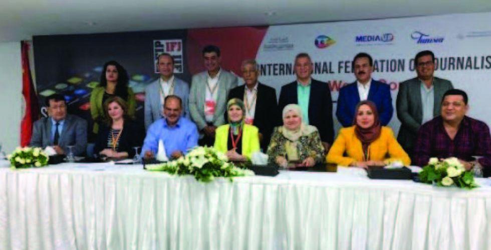 اللامي يتلقى التهاني لفوزه بعضوية الاتحاد الدولي للصحفيين