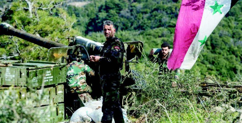 الجيش السوري يتصدى لهجوم  بالصواريخ والطائرات المسيرة