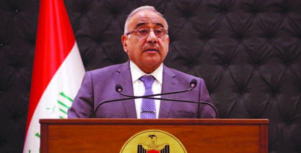 عبد المهدي: لدينا طريق واضح لحل أزمة الكهرباء