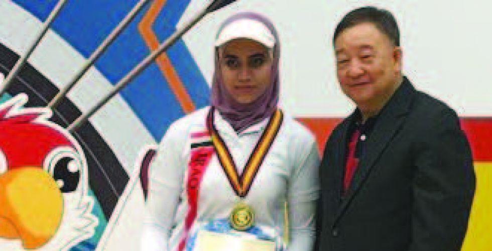 فاطمة سعد تحرز ذهبية  صالات القارات