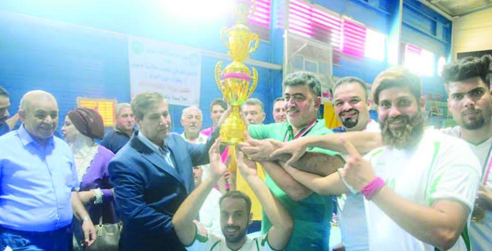 وسام المجد بطلاً لدوري كرة الطائرة من وضع الجلوس