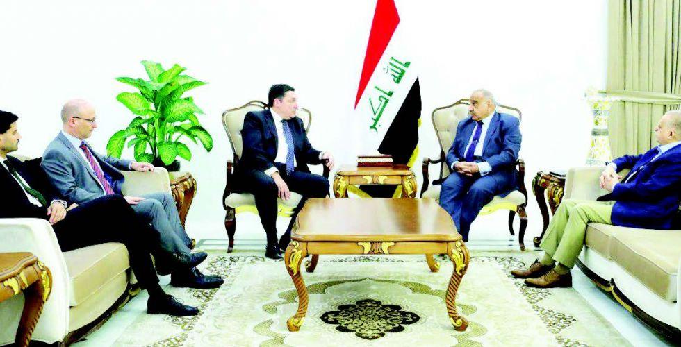 عبد المهدي يبحث تفعيل العلاقات الاقتصادية مع الاتحاد الاوروبي