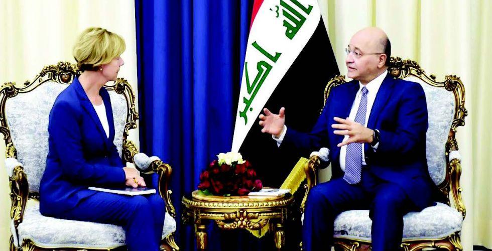 الرئيس صالح يبحث مع وفد أميركي العلاقات الثنائية