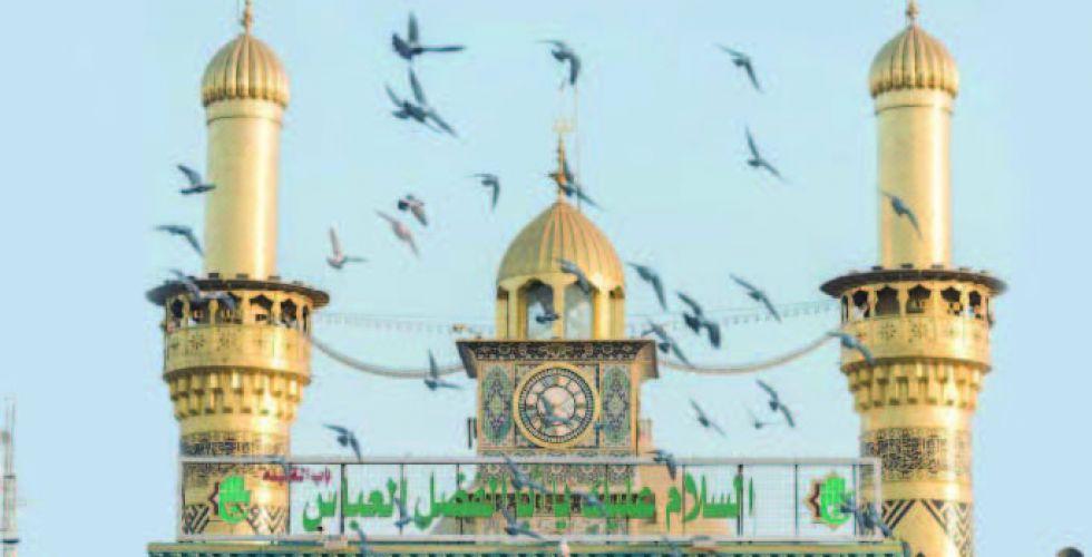 دفن الإمام العباس {ع} في محل الشهادة