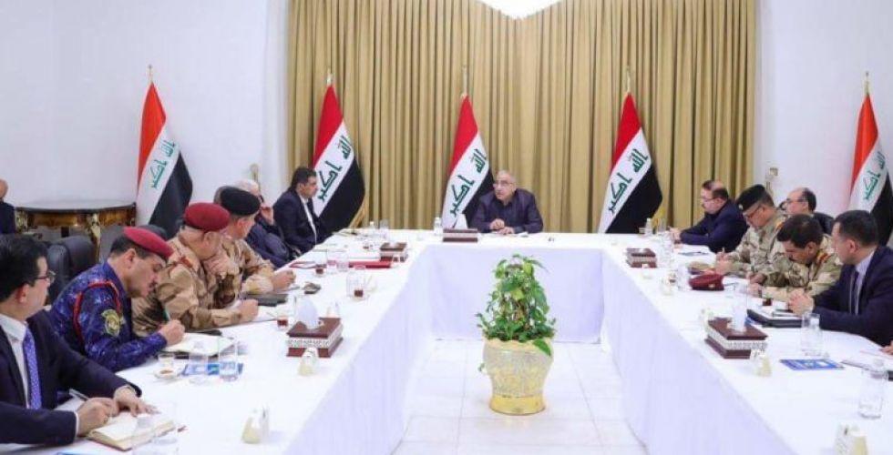 مجلس الأمن الوطني يعقد جلسة غير إعتيادية برئاسة رئيس مجلس الوزراء السيد عادل عبدالمهدي