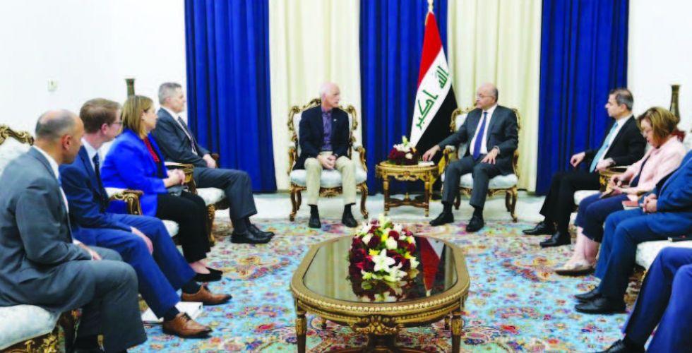 صالح والحلبوسي يؤكدان دعم الإصلاحات لتحقيق مطالب المواطنين