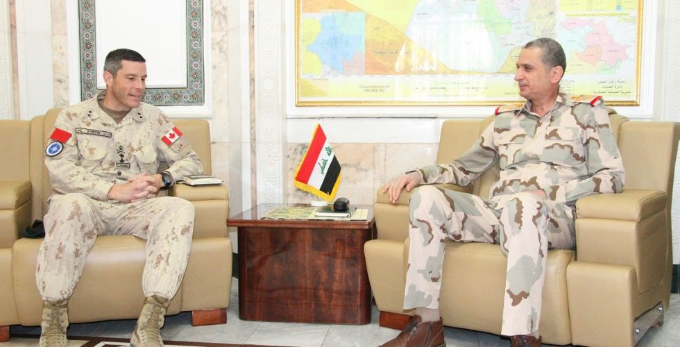 Al-Ghanimi receives the head of the NATO mission in Iraq Alsabaah-23368