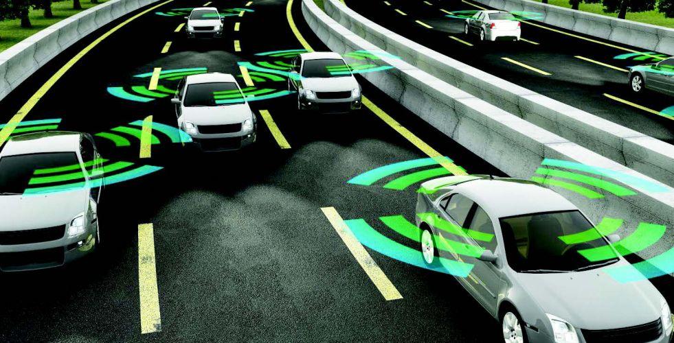 إطار سيارة يتفاعل مع شبكة 5G