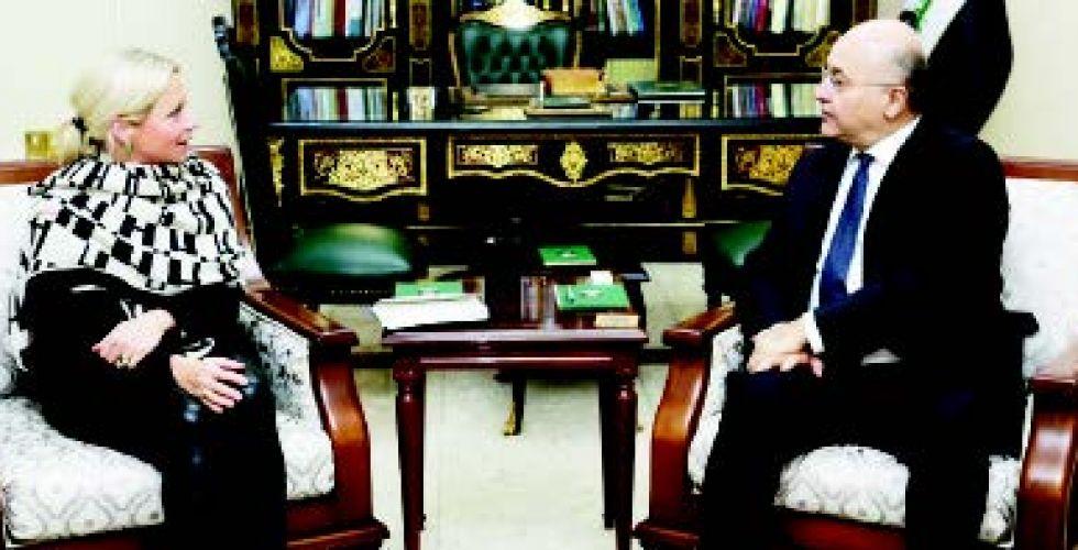 رئيس الجمهورية يستقبل ممثلة الأمين العام للأمم المتحدة