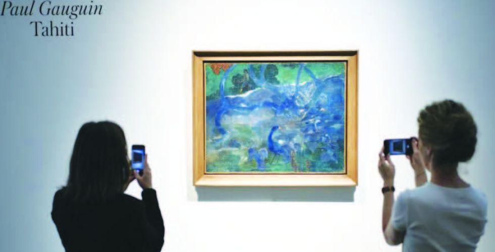 لوحة نادرة لغوغان تباع بسعر 9,5 ملايين يورو