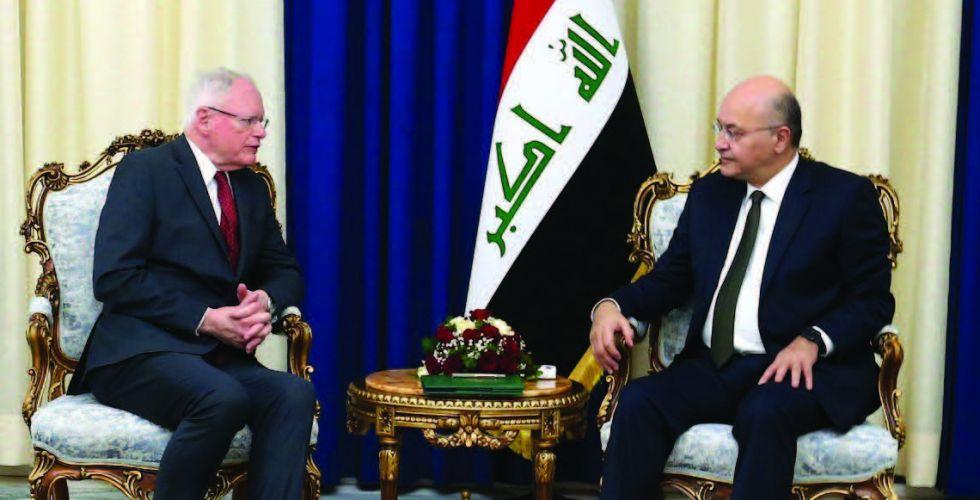 صالح وعبد المهدي يؤكدان أهمية الدعم الدولي لتعزيز أمن العراق