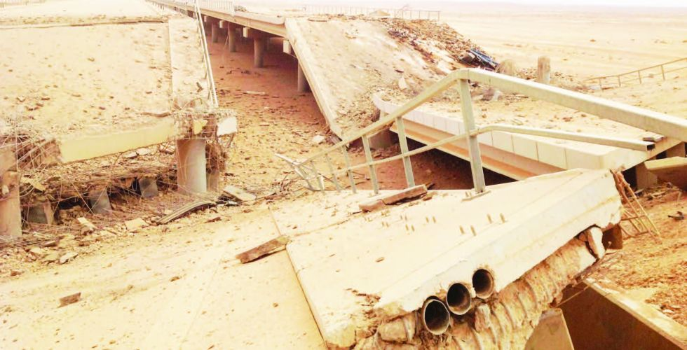 إعادة إعمار الجسور المتضررة في الأنبار