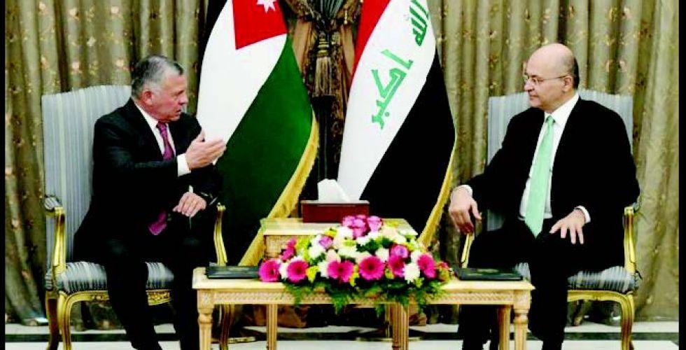 رئيس الجمهورية يشيد بمواقف الأردن تجاه العراق