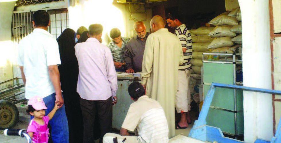 التجارة تباشر توزيع الرز المحلي ضمن مفردات التموينية