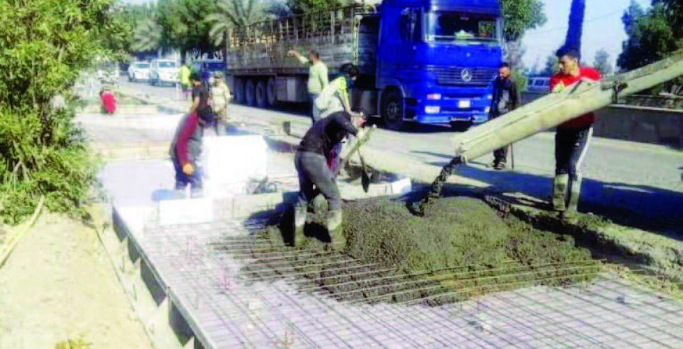 مراحل متقدمة لمشروع طريق بغداد - سامراء