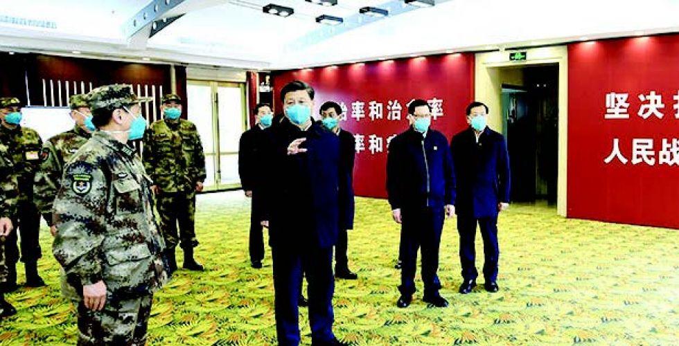 الرئيس الصيني يزور {ووهان} ويطلع على إجراءات الوقاية