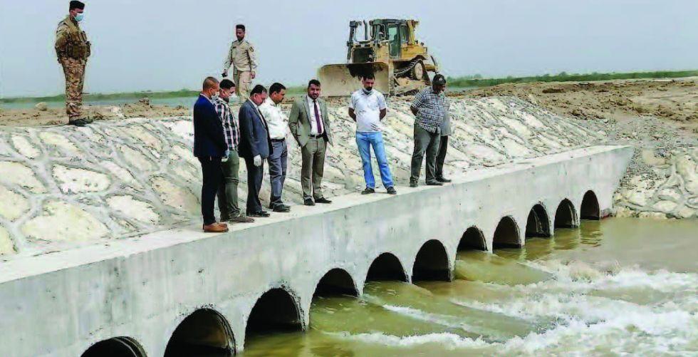 ذي قار: إنجاز معبر أنبوبي على السدة القاطعة لنهر الفرات
