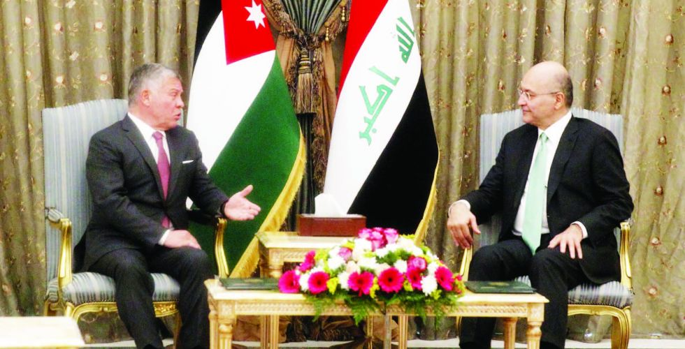 Barham Saleh receives the Jordanian monarch and confirms the depth of historical relations between the two countries Alsabaah-3568
