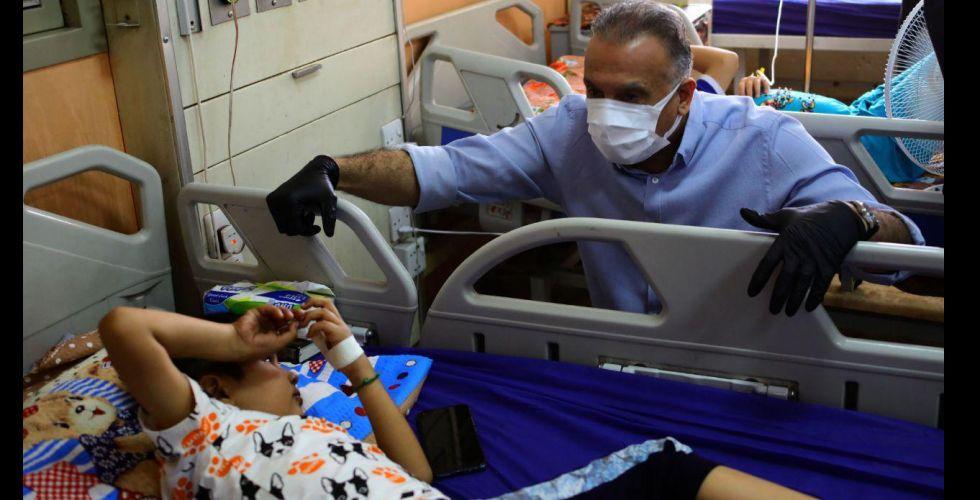 الكاظمي يجري جولة تفقدية في مدينة الطب ومستشفى الشفاء