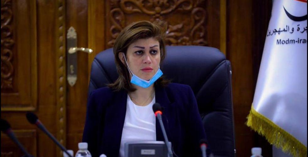وزيرة الهجرة: تنسيق وزاري للنهوض بواقع النازحين الصحي