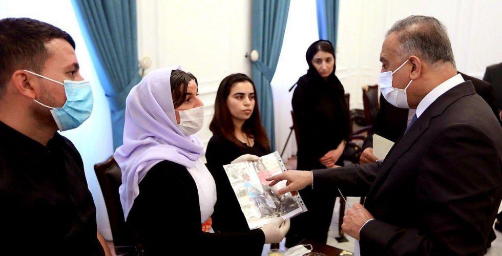 الكاظمي يتعهد بالبحث عن المختطفين الأيزيديين وتحويله إلى جهد دولي