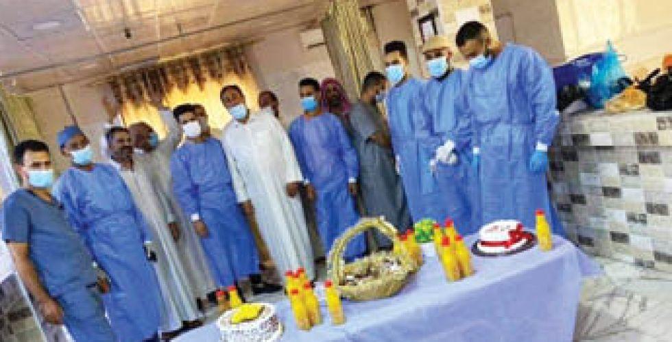 مستشفى القاسم ينظم حفلات لمصابي {كورونا}