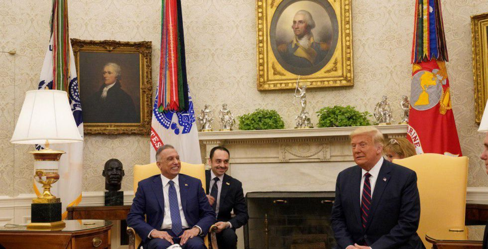 Al-Kazemi during his meeting with Trump: We look forward to building partnership relations between Iraq and the United States