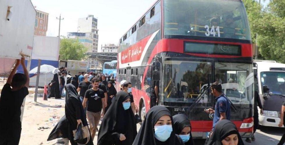 800 حافلة لنقل زوار الأربعينيَّة