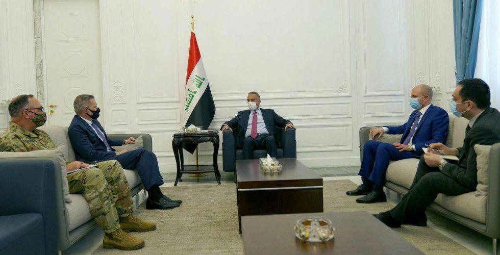 الكاظمي يستقبل السفير الأميركي وقائد التحالف الدولي ضد الإرهاب