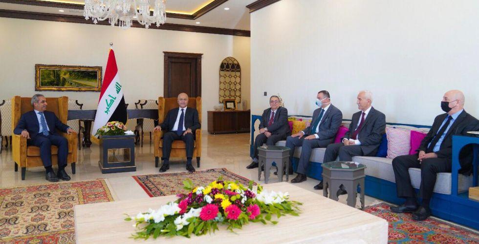 رئيس الجمهورية يستقبل رئيسيْ مجلس القضاء الاتحادي وإقليم كردستان