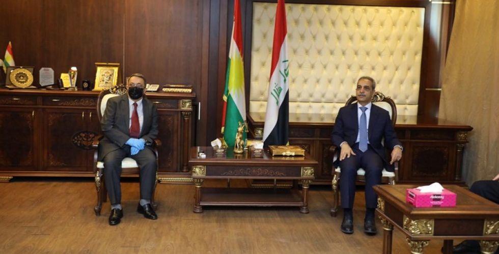 رئيس مجلس القضاء يزور مجلس قضاء إقليم كردستان ومحكمة استئناف اربيل