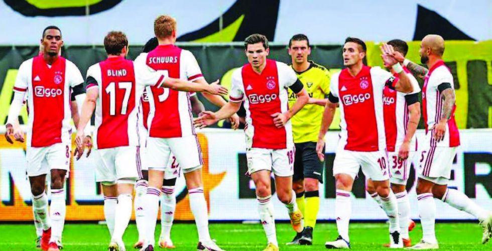 فوز تاريخي لأياكس في الدوري الهولندي