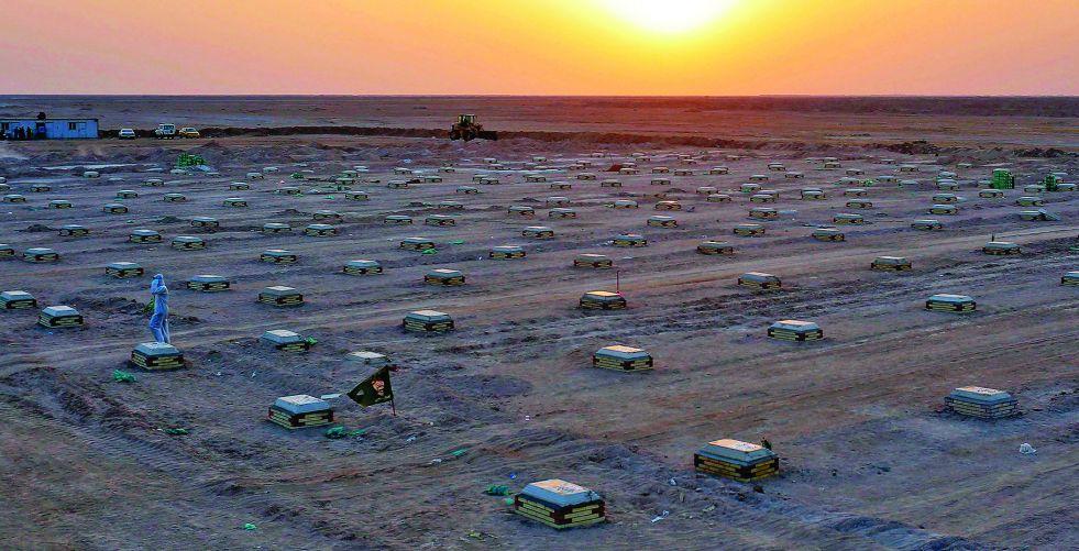 «نيويورك تايمز» تسلّط الضوء على مقبرة «كورونا» في العراق