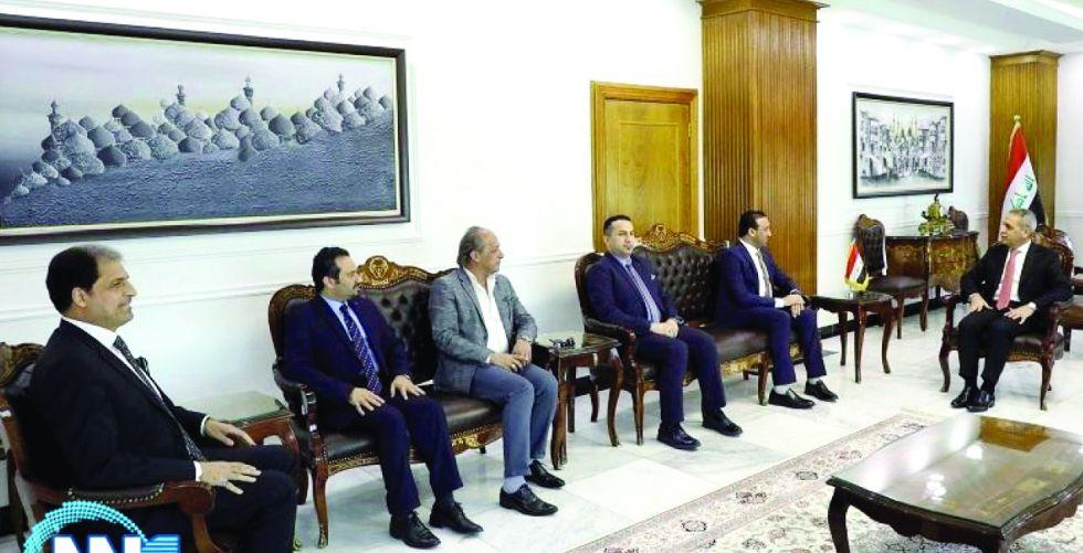 زيدان والونان يبحثان إشراك منتسبي مجلس القضاء بالدورات التطويرية