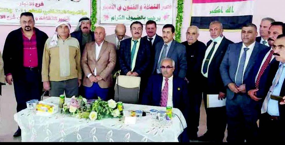 غازي عبد الكريم رئيسا لأدباء الأنبار الشعبيين