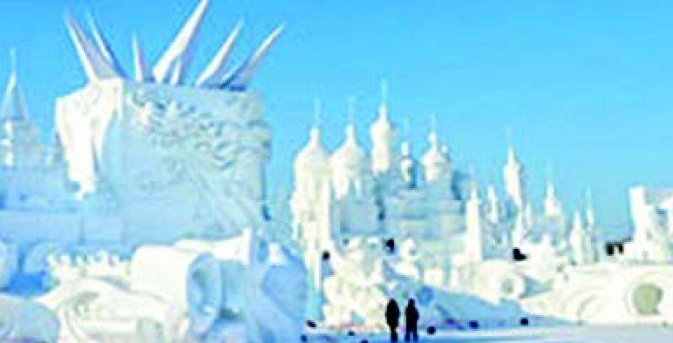 مهرجان للنحت على الجليد