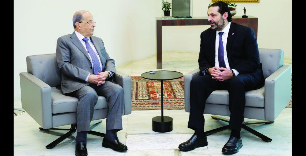اللبنانيون يترقبون لقاء عون والحريري