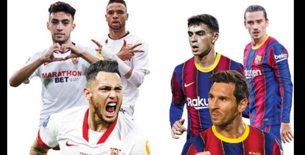 برشلونة يبحث عن الريمونتادا  أمام إشبيلية