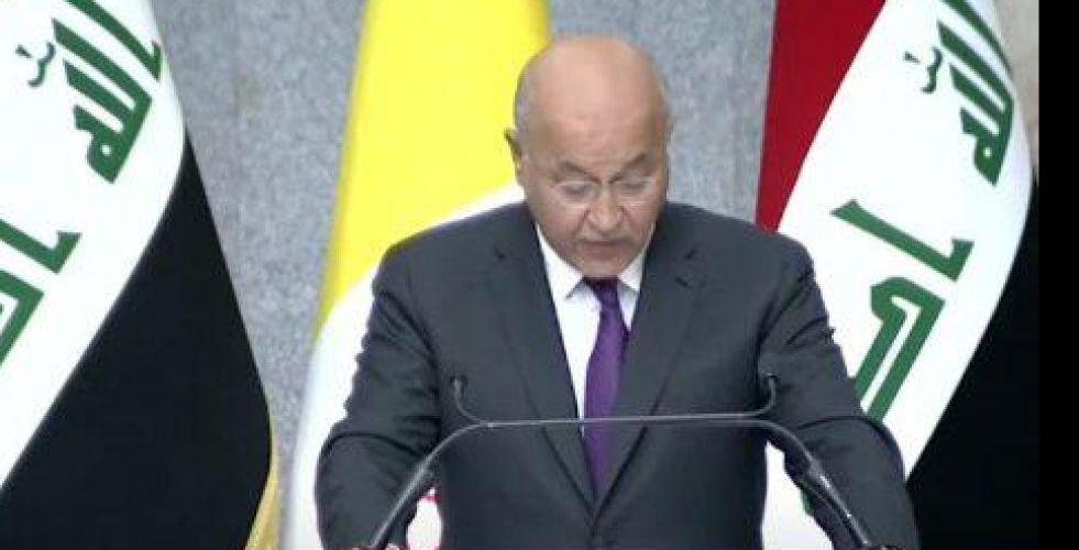 رئيس الجمهورية لبابا الفاتيكان: اصراركم على زيارة العراق رغم الوباء والظروف العصيبة تُضاعف قيمة الزيارة لدى العراقيين