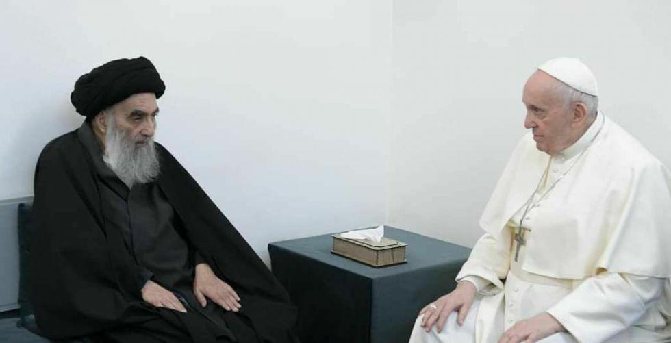نص بيان مكتب السيد السيستاني بشأن اللقاء التاريخي بين المرجع الأعلى وبابا الفاتيكان