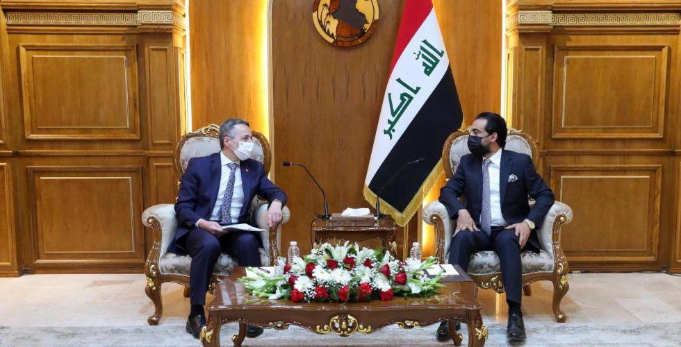 الحلبوسي  يدعو لتمتين العلاقات الثنائية  بين بغداد وجنيف
