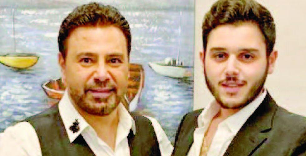 عاصي الحلاني  يغني مع ابنه الوليد