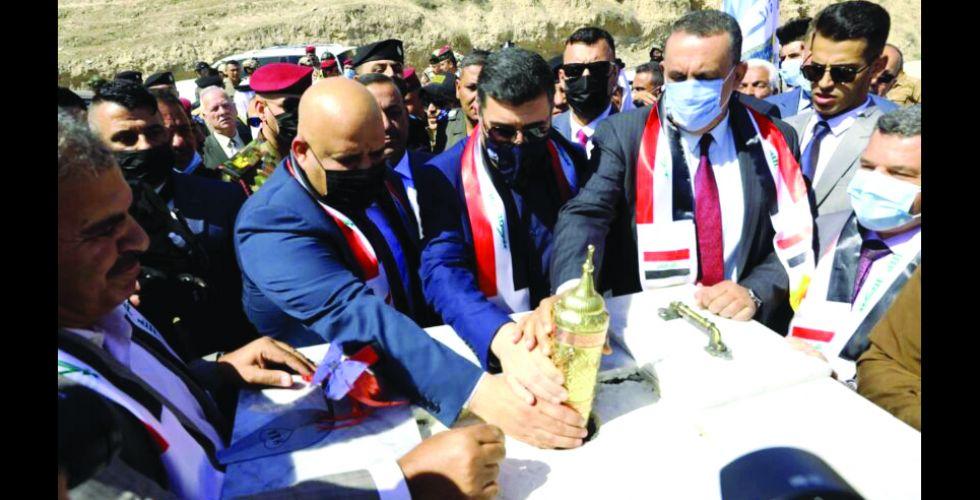 وزير الموارد يضع الحجر الأساس لسد مكحول