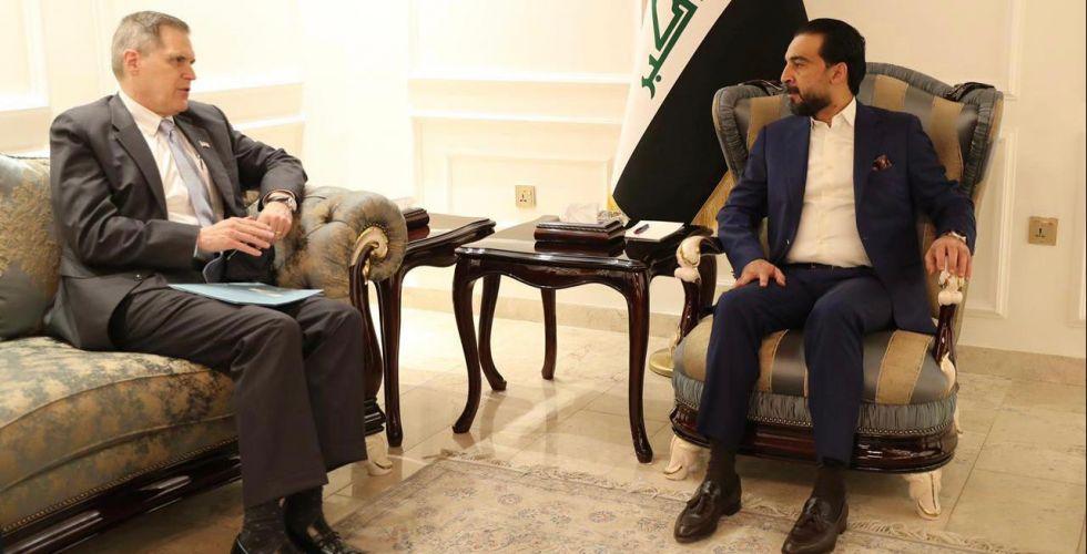 محمد الحلبوسي والسفير الأميركي يناقشان  التعاون الأمني
