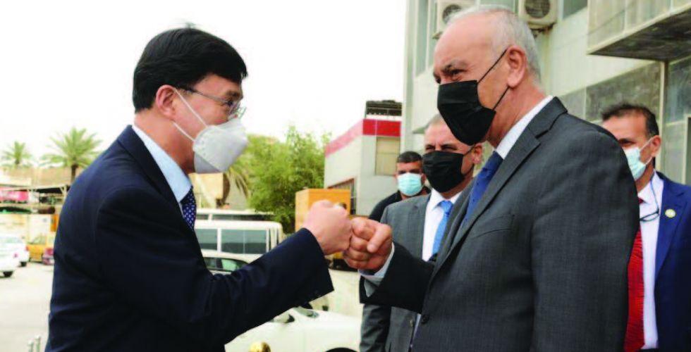 تعاون ثنائي بين الأولمبيتين العراقية والكورية