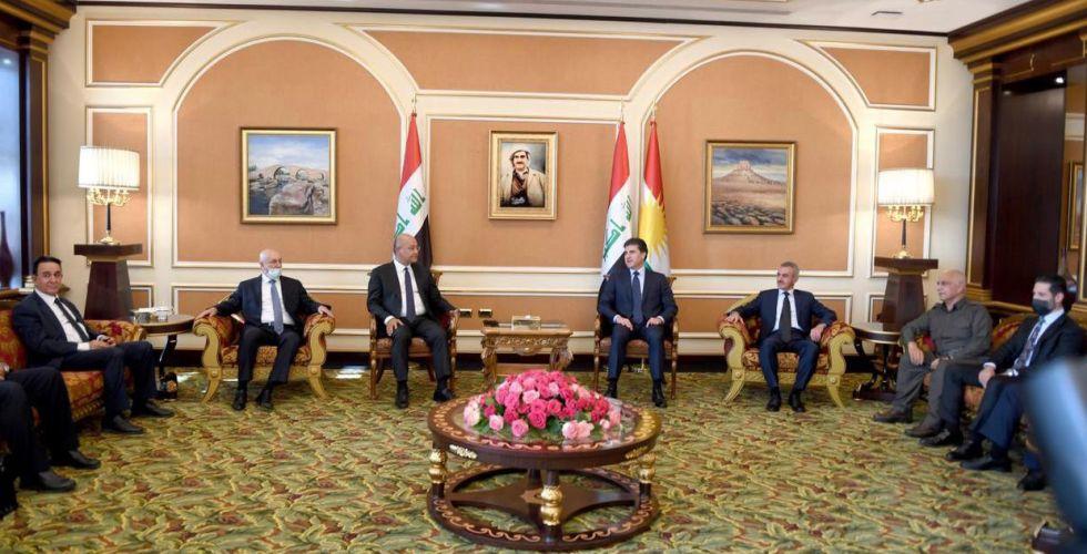 برهم صالح يهيئ من أربيل لـ {مرحلة جديدة»  من التفاهمات الكردية الكردية